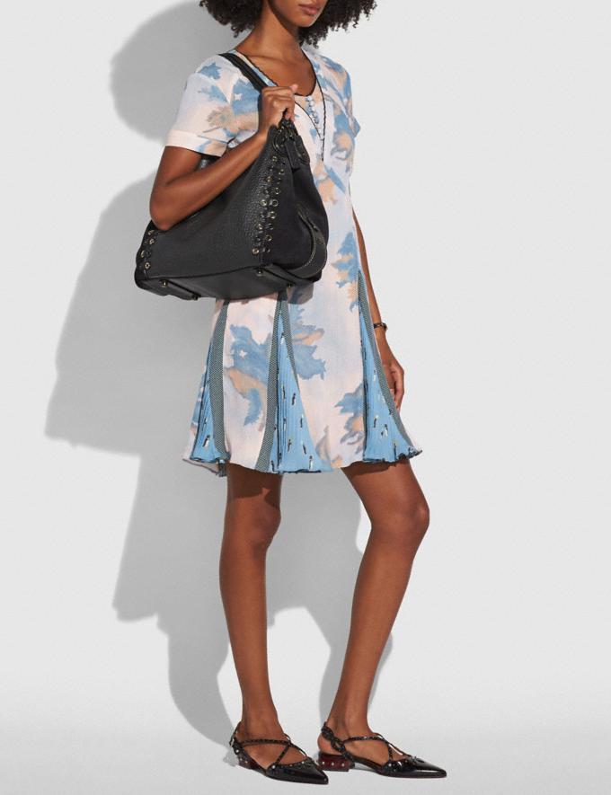 Coach Edie Shoulder Bag 31 With Coach Link Detail Black/Light Gold CYBER MONDAY SALE Women's Sale Bags Alternate View 3