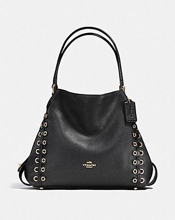edie shoulder bag 31 with coach link detail