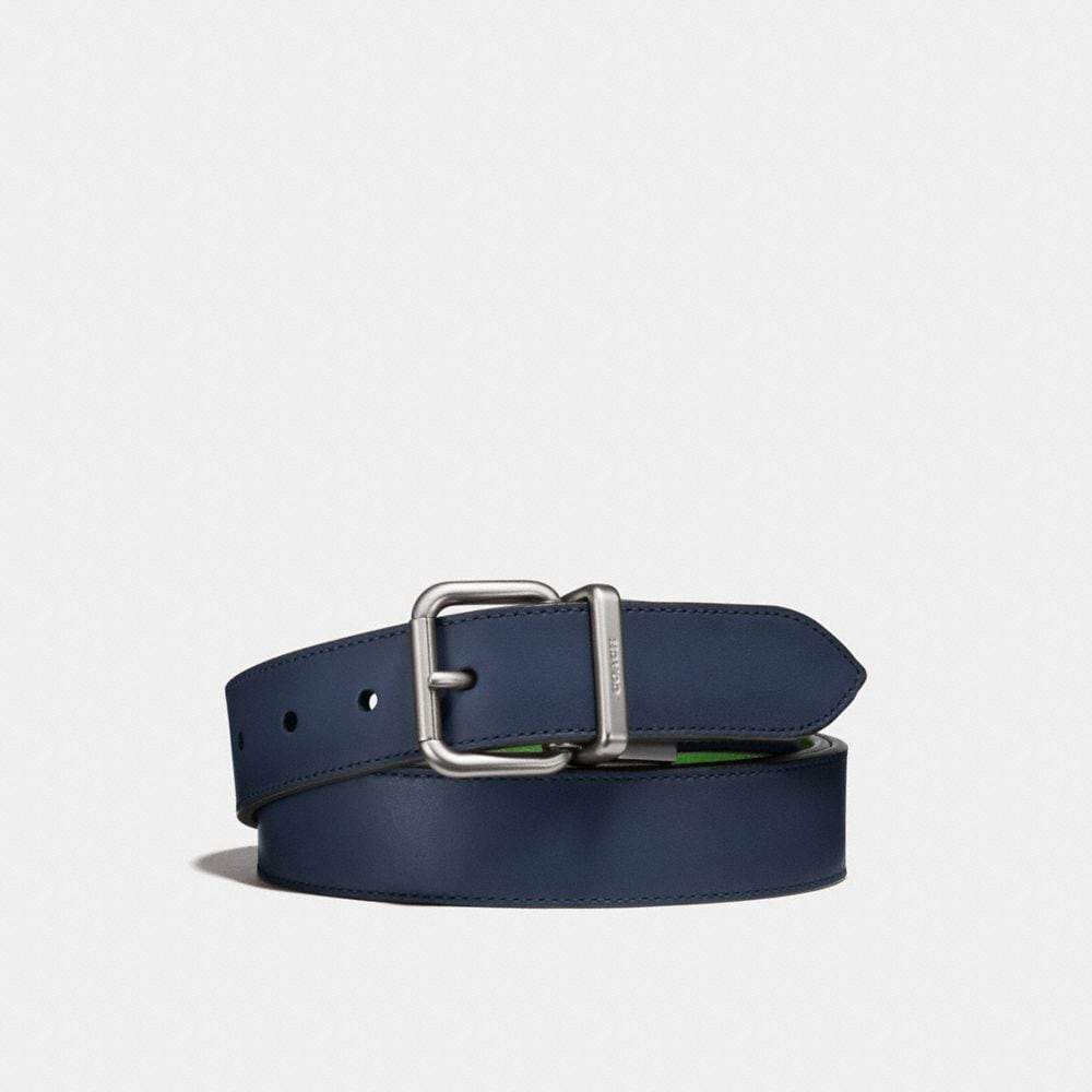 jeans buckle cut-to-size reversible belt