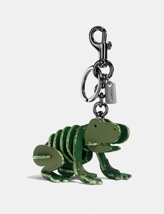 Coach Small Froggy Puzzle Bag Charm Utility/Black