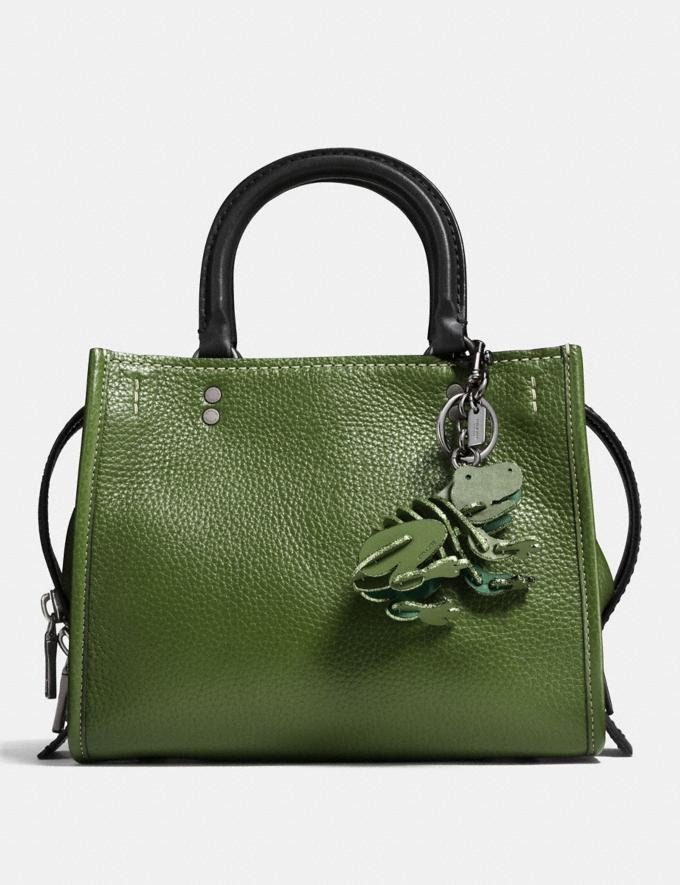 Coach Small Froggy Bag Charm Utility/Black  Alternate View 1