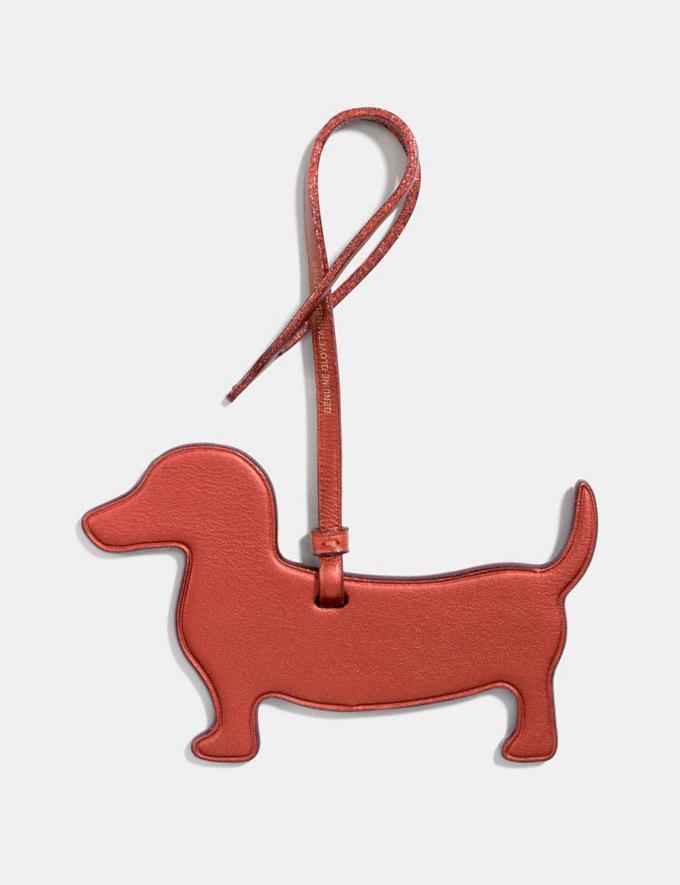 Coach Dog Ornament Metallic Brick Women Accessories Bag Accessories & Keyholders Alternate View 1