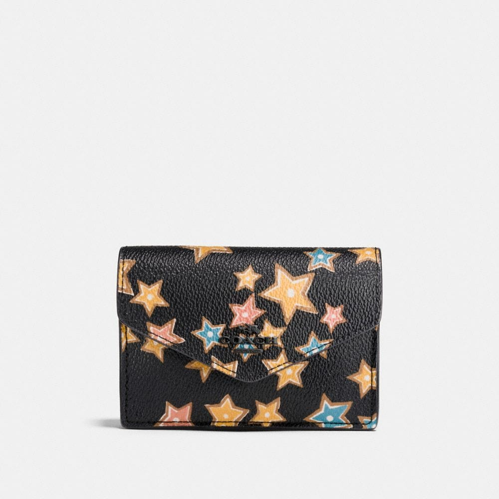 Coach Envelope Card Case With Starlight Print