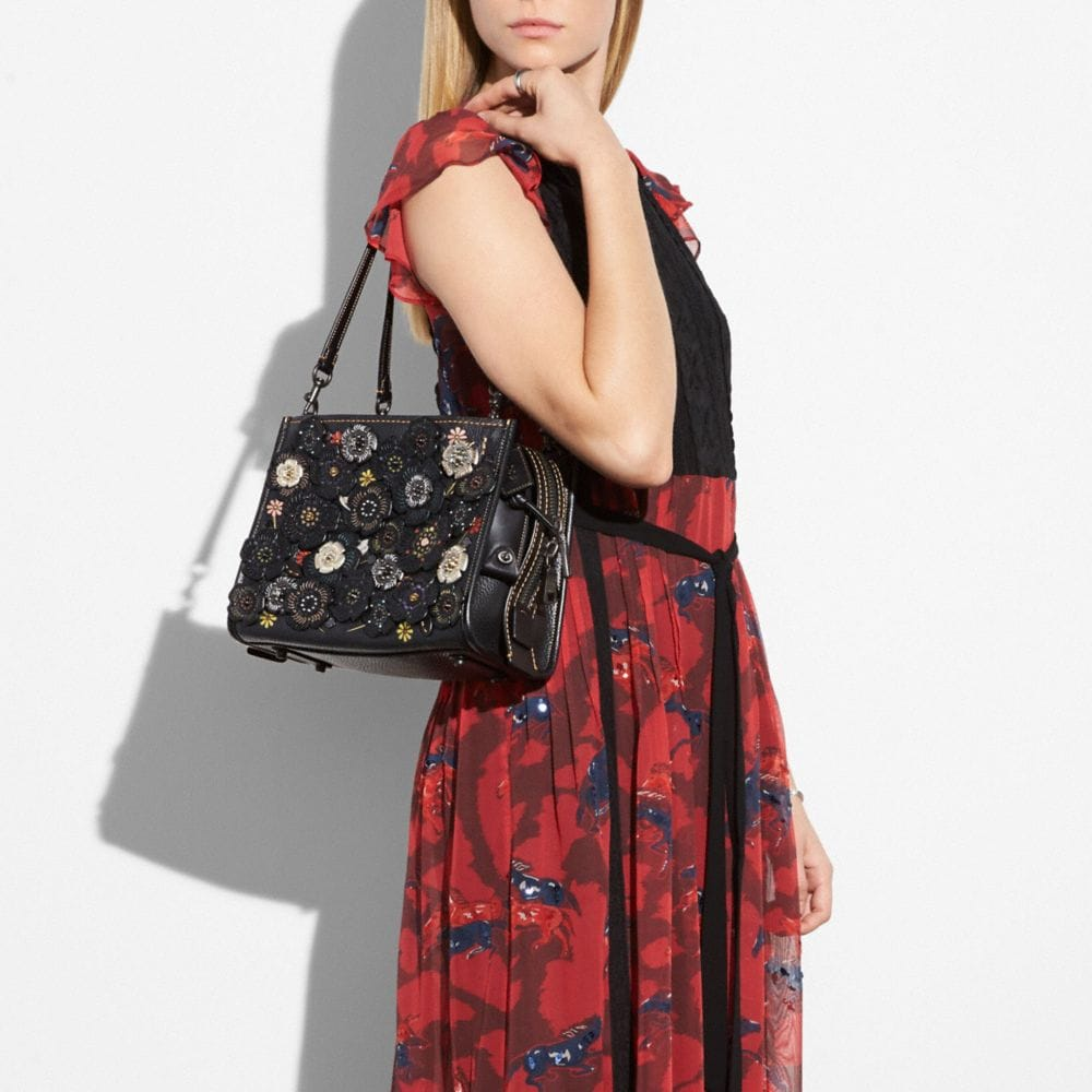 Coach Rogue 25 With Tooled Tea Rose Alternate View 4