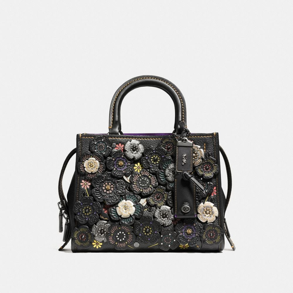 Coach Rogue 25 With Tooled Tea Rose