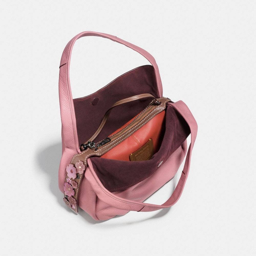 Coach Bandit Hobo With Tea Rose Detail Alternate View 3