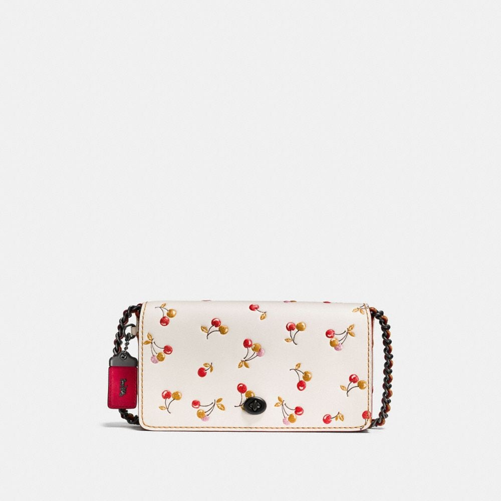 DINKY IN GLOVETANNED LEATHER WITH CHERRY PRINT
