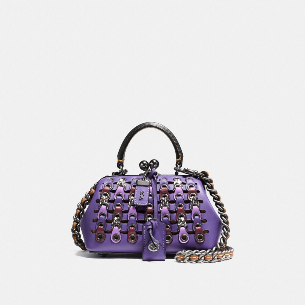 KISSLOCK SATCHEL 19 WITH SNAKESKIN COACH LINK
