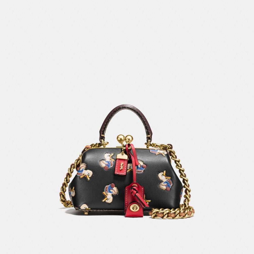 KISSLOCK SATCHEL 19 WITH COLORBLOCK DUCK PRINT