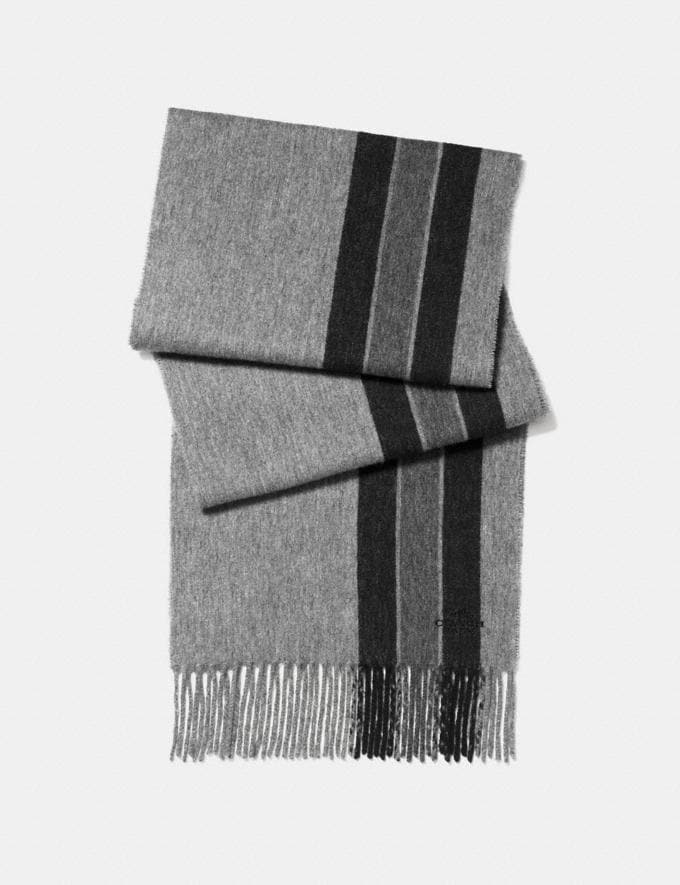 Coach Varsity Stripe Scarf Grey/Black