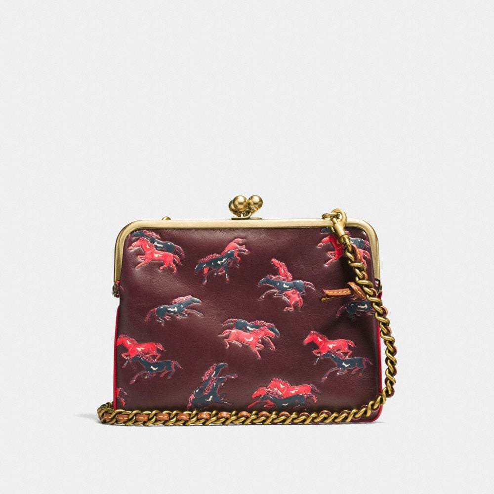 Coach Kisslock Crossbody With Colorblock Horse Print Alternate View 2