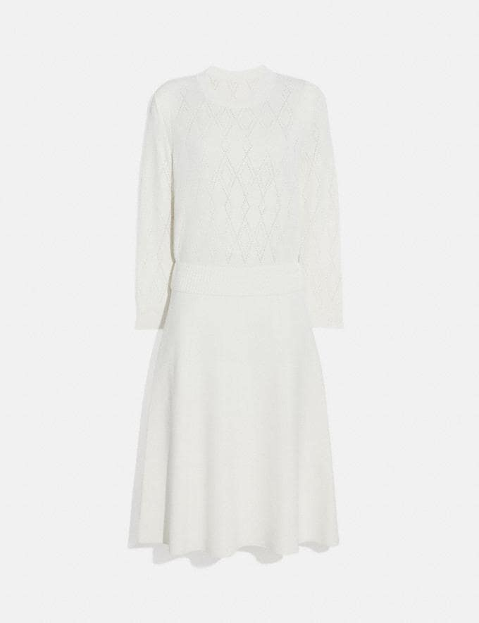 Coach Open Knit Dress Cream