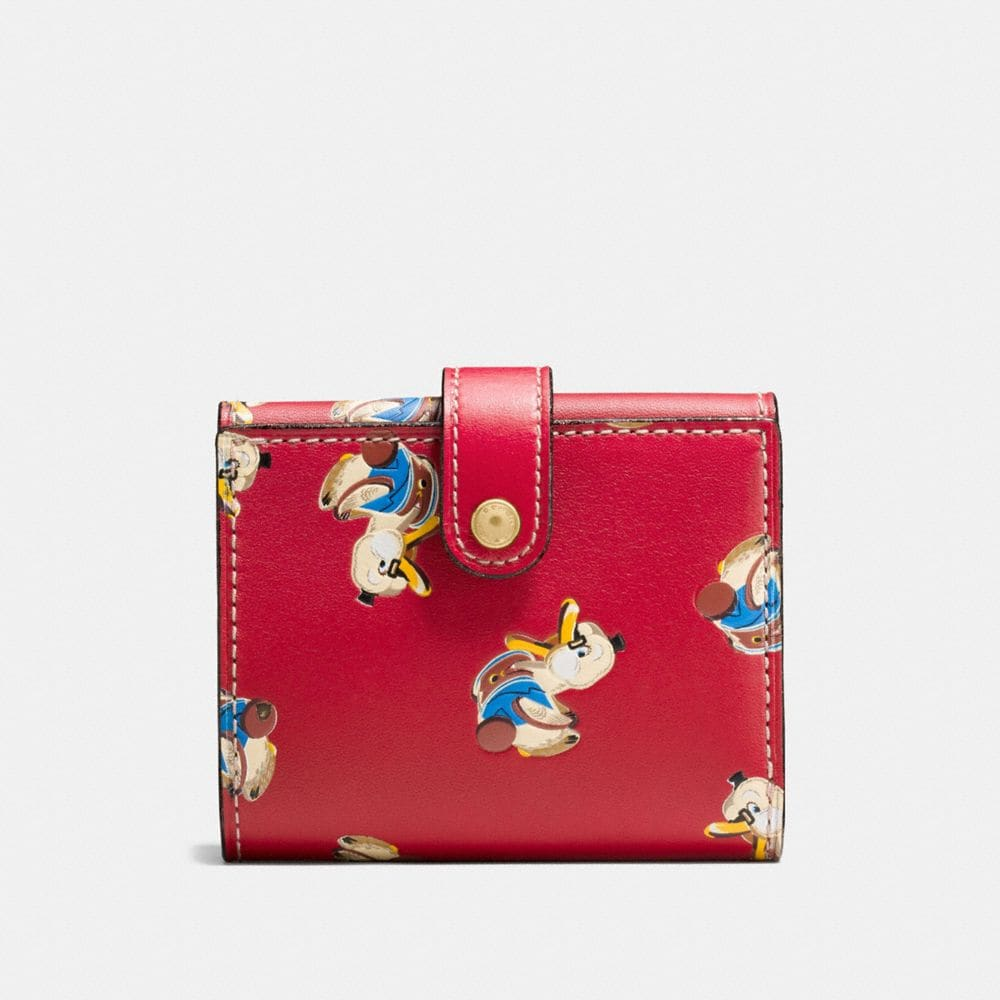Coach Small Trifold Wallet With Duck Print