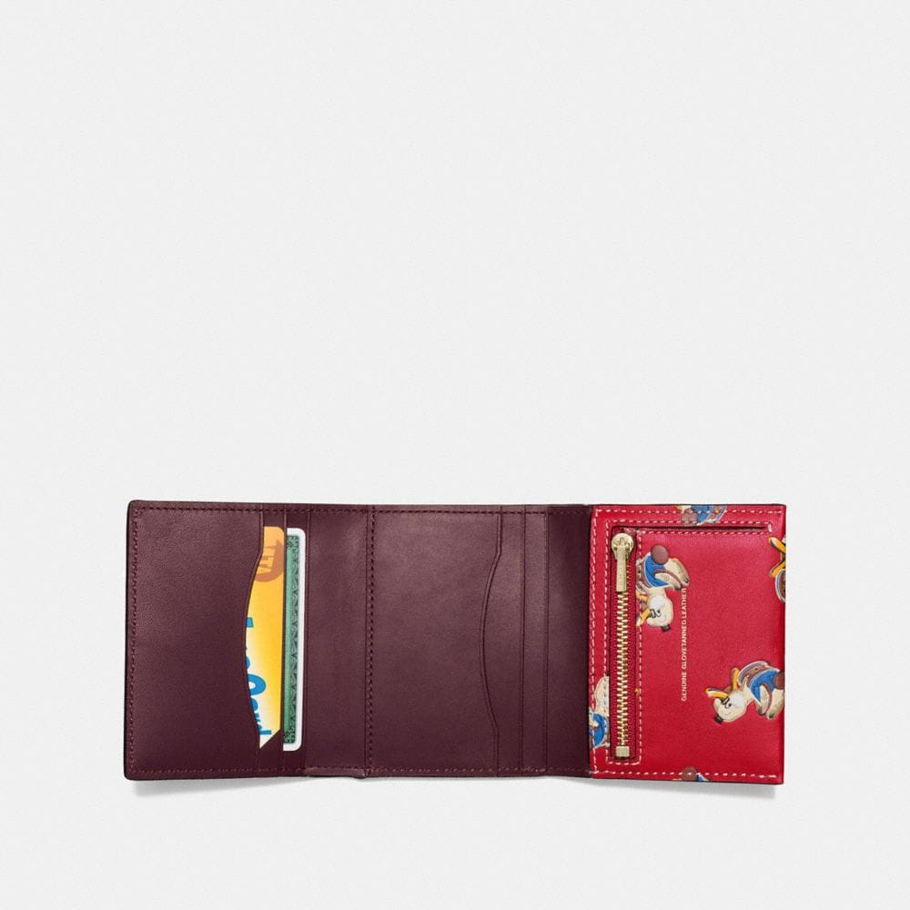 Coach Small Trifold Wallet With Duck Print Alternate View 1