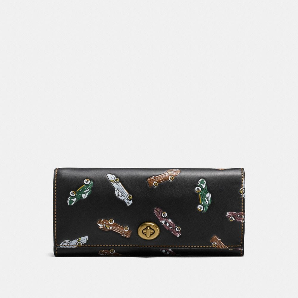 Coach Envelope Wallet With Car Print