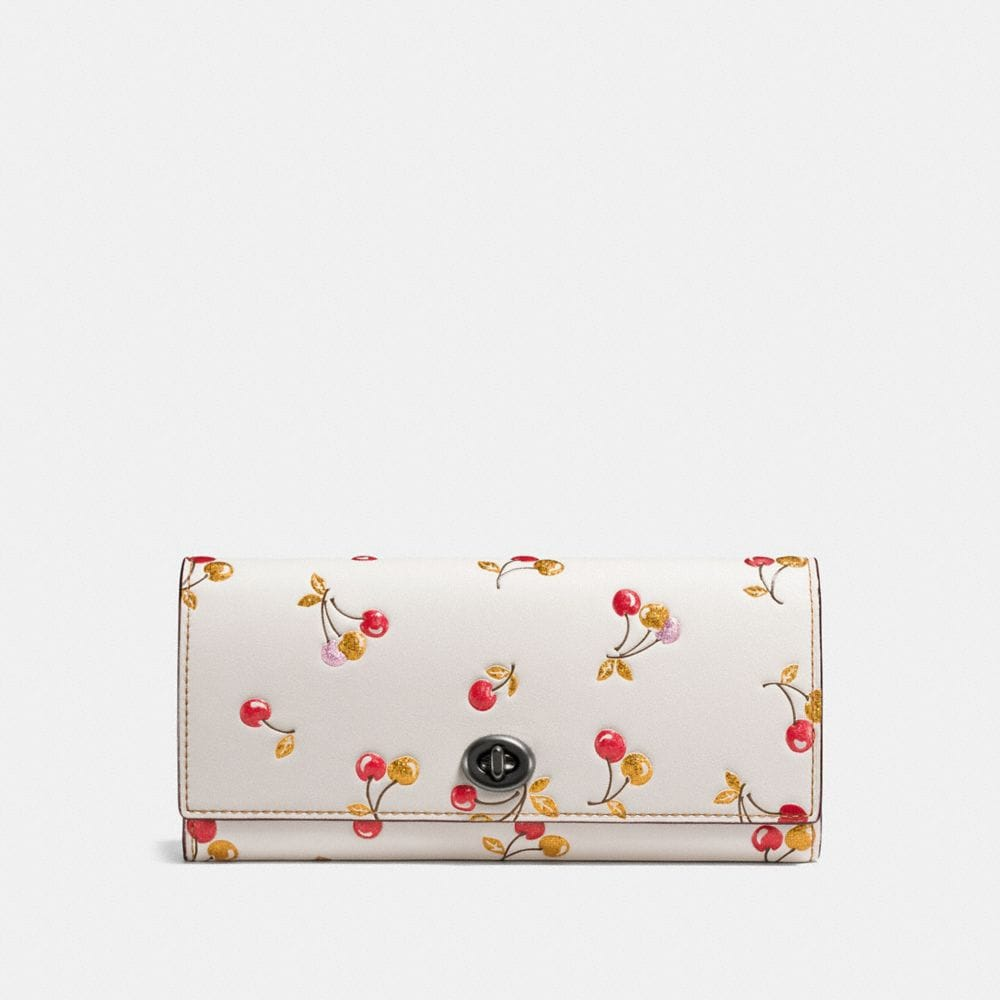 Coach Envelope Wallet With Cherry Print