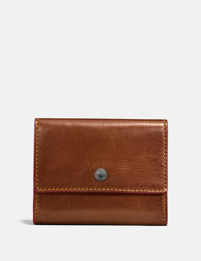 Coach Coin Case Dark Saddle Men Wallets