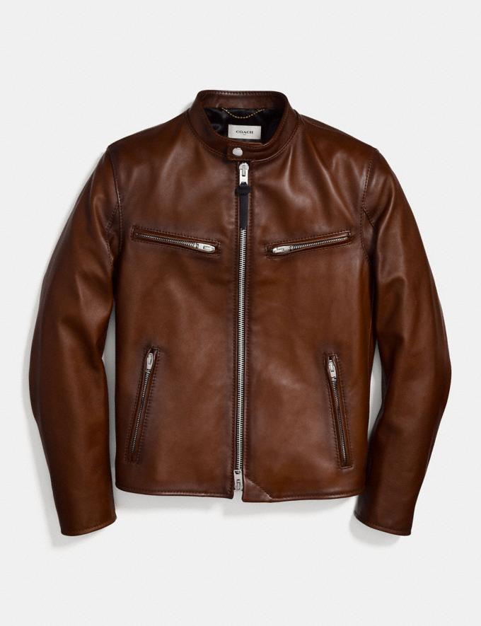 Coach Racer Jacket Dark Saddle Men Ready-to-Wear Jackets & Outerwear