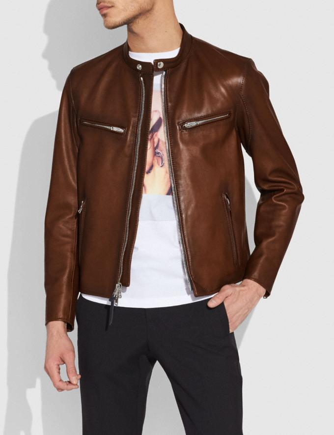 Coach Racer Jacket Dark Saddle Gifts For Him Bestsellers Alternate View 1