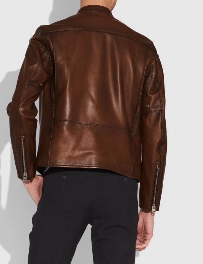 Coach Racer Jacket Dark Saddle Men Ready-to-Wear Jackets & Outerwear Alternate View 2