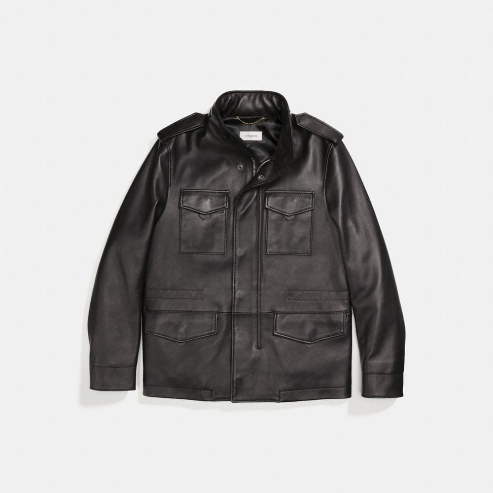 BURNISHED LEATHER M65 JACKET