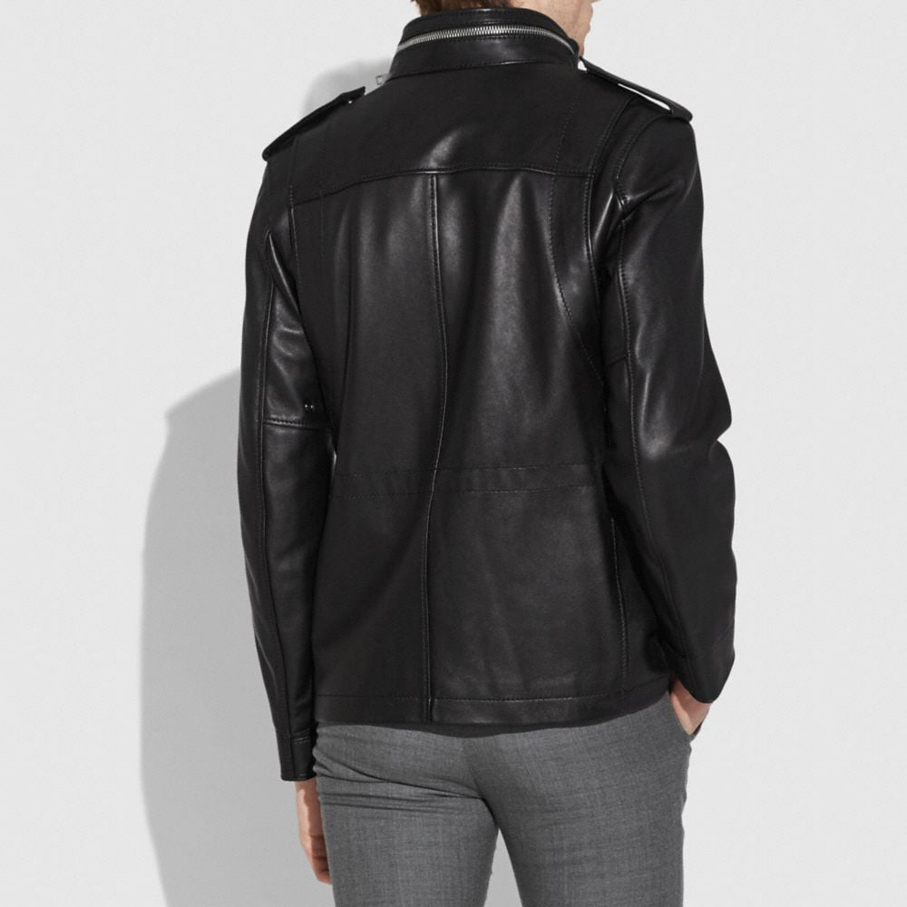 Coach Burnished Leather M65 Jacket Alternate View 2