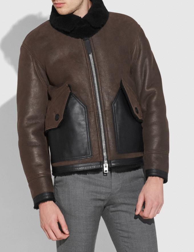 Coach Shearling B3 Bomber Jacket Black Ebony Men Ready-to-Wear Coats & Jackets