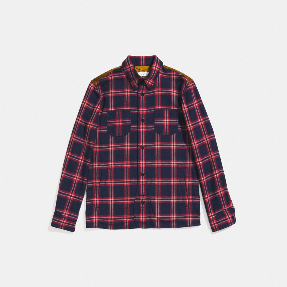 Coach Plaid Shirt