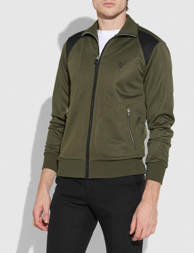 Coach Track Jacket Military Men Ready-to-Wear Coats & Jackets Alternate View 1