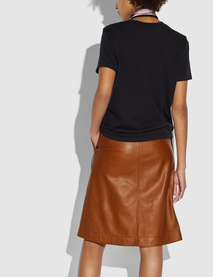 Coach Leather Skirt With Turnlocks Dark Caramel Women Ready-to-Wear Bottoms Alternate View 2