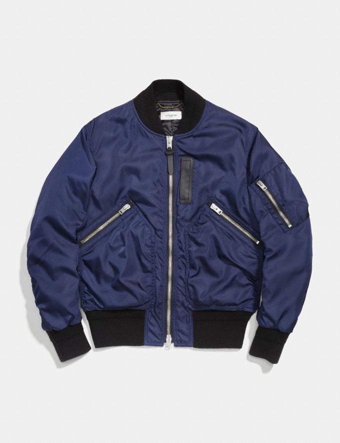 Coach Ma-1 Jacket Darkest Navy Men Ready-to-Wear Coats & Jackets