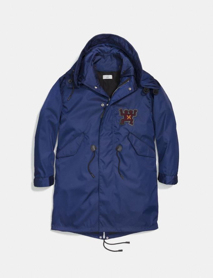 Coach Coach X Keith Haring Parka Cadet Blue Men Ready-to-Wear Coats & Jackets