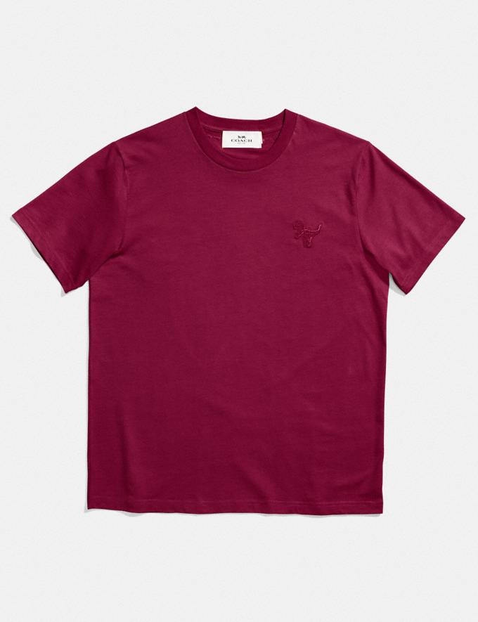 Coach Rexy Patch T-Shirt Burgundy