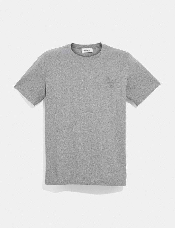 Coach Rexy Patch T-Shirt Heather Grey
