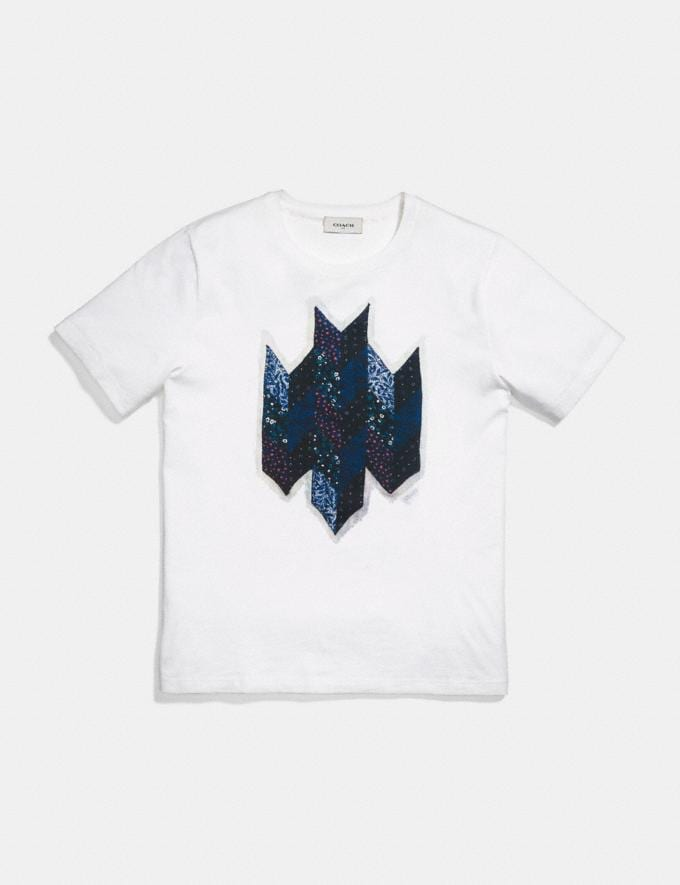 Coach Patchwork T-Shirt White Men Ready-to-Wear Tops & Bottoms