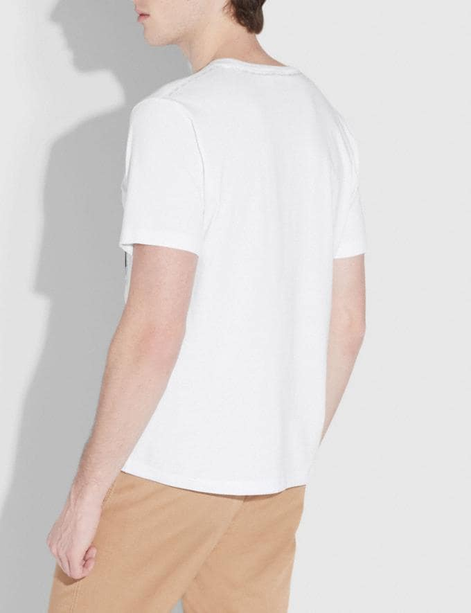 Coach Patchwork T-Shirt White Men Ready-to-Wear Tops & Bottoms Alternate View 2