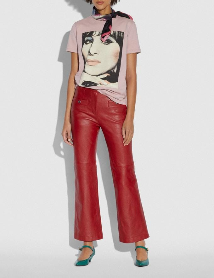 Coach Leather Pants Red  Alternate View 1