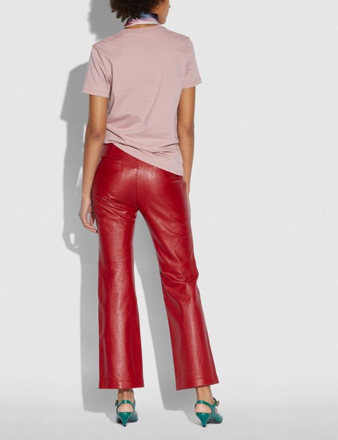 Coach Leather Pants Red  Alternate View 2