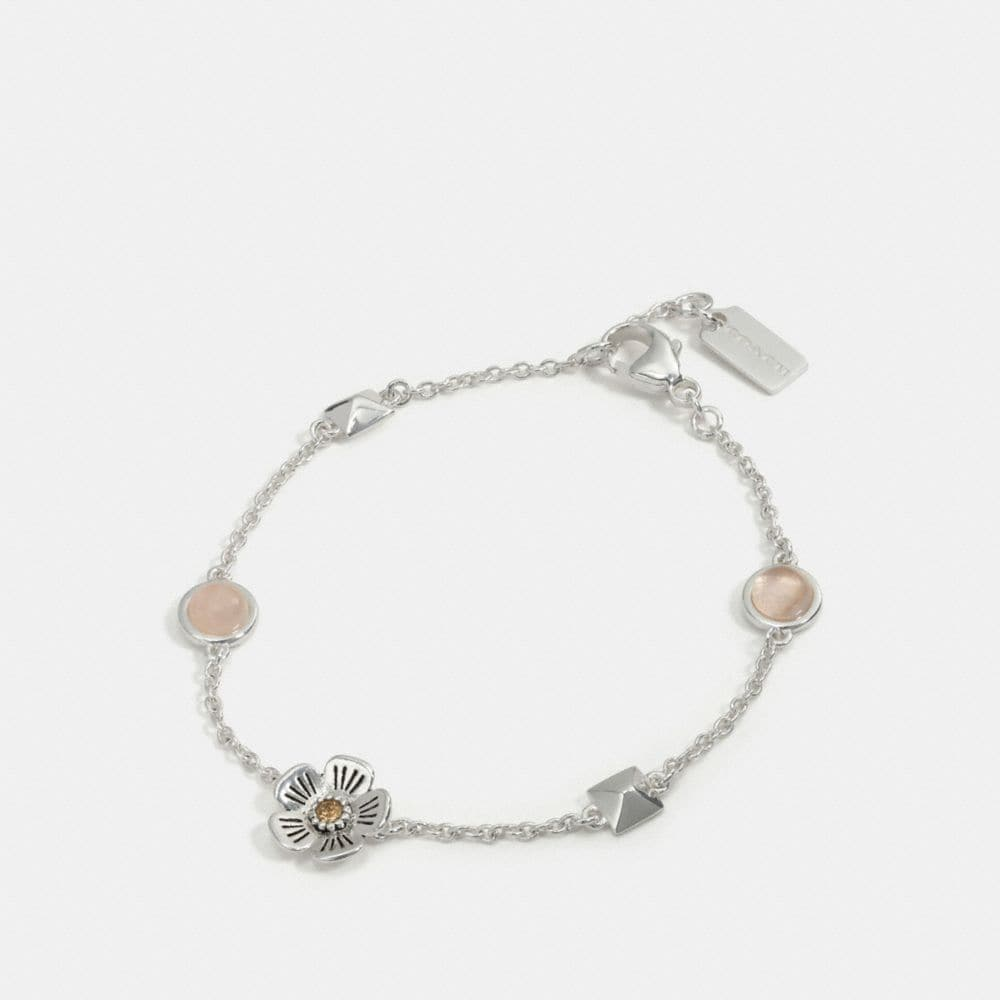TEA ROSE STUD CHAIN BRACELET