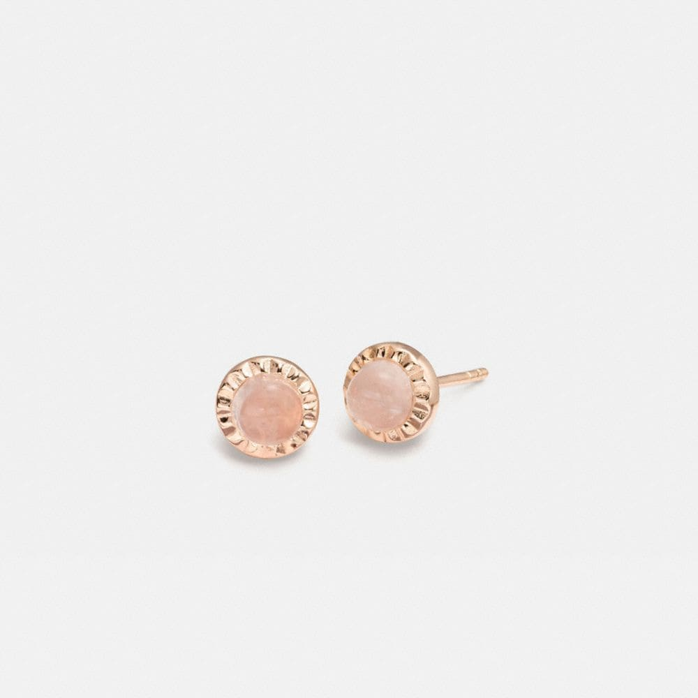 demi-fine sunburst stone earrings