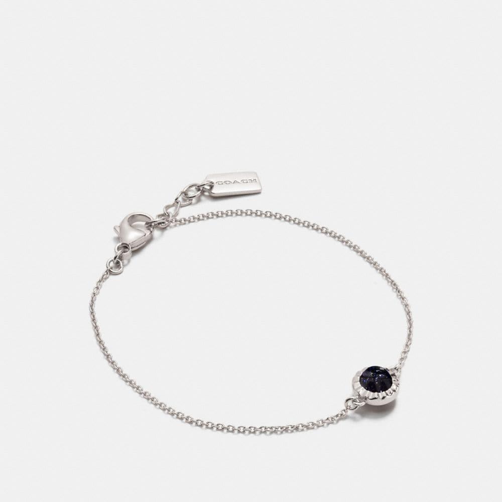 Coach Demi-Fine Sunburst Stone Bracelet