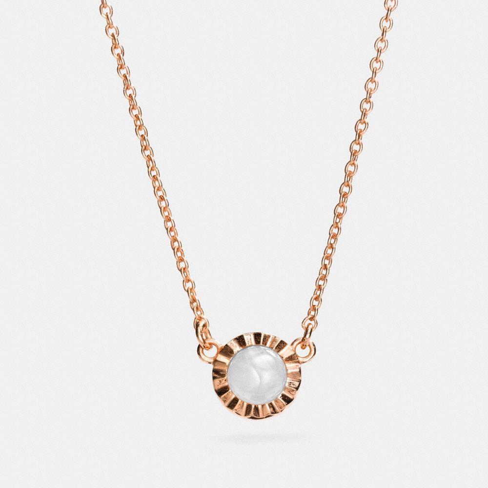 Coach Demi-Fine Sunburst Stone Necklace