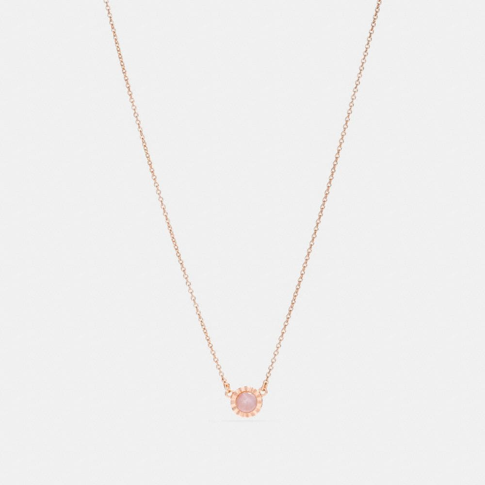 Coach Demi-Fine Sunburst Stone Necklace