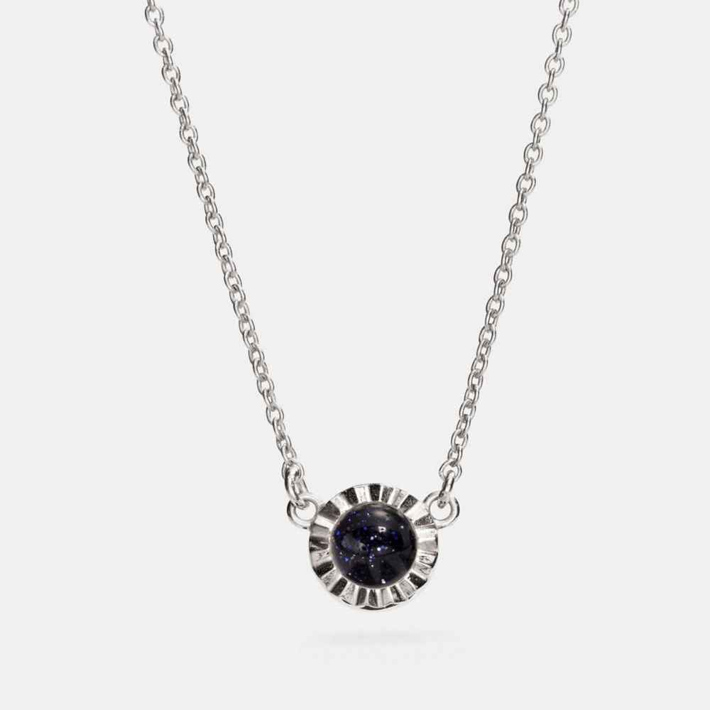 demi-fine sunburst stone necklace | Tuggl