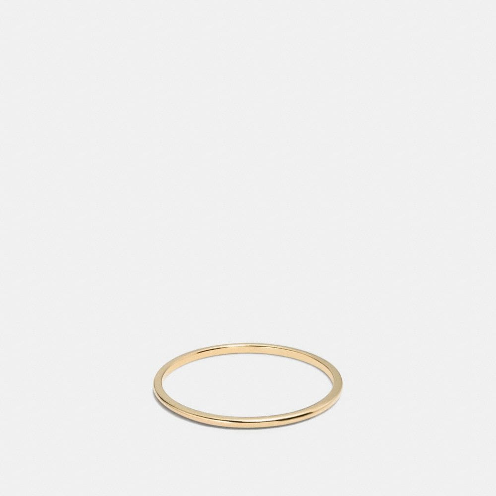 Coach Demi-Fine Sunburst Simple Band Ring