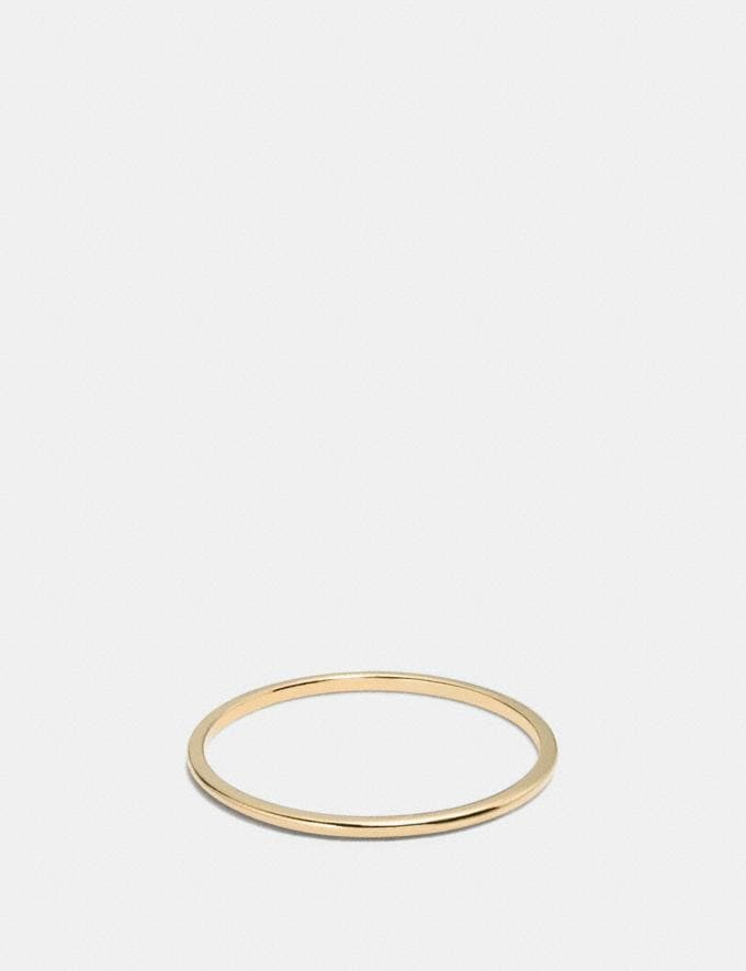 Coach Demi-Fine Sunburst Simple Band Ring Gold Women Accessories Jewelry Rings