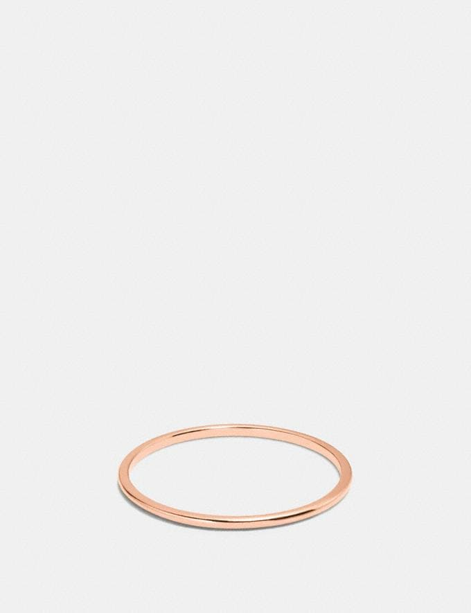 Coach Demi-Fine Sunburst Simple Band Ring Rosegold Gifts For Her