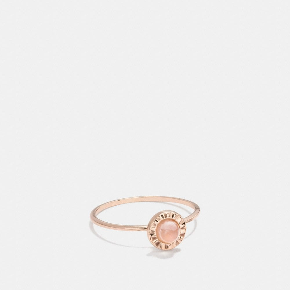 Coach Demi-Fine Sunburst Stone Ring