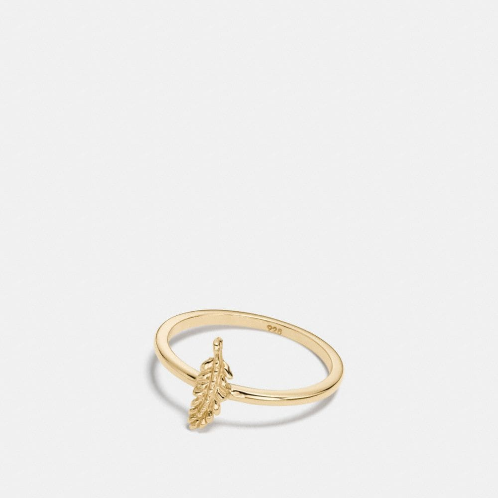 mini demi-fine feather ring