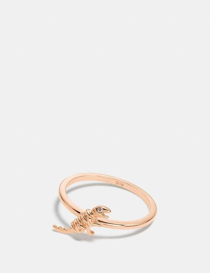 Coach Mini Demi-Fine Rexy Ring Rosegold VIP SALE Women's Sale Jewellery
